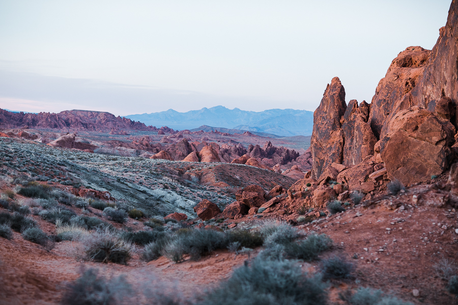 beautiful landscape photo during Valley of Fire engagement session