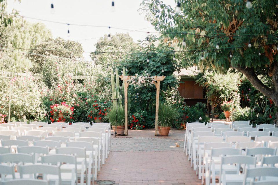 ceremony space for wedding at Jardines de San Juan