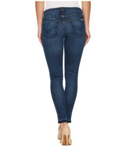 Cropped Skinny Jeans with whiskering and honeycombs-back
