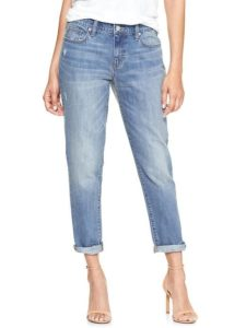 Destructed Boyfriend Jeans with whiskering