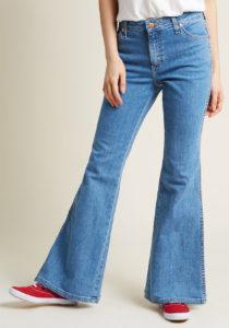 Flared Jeans in Stone Wash Stonewash Denim