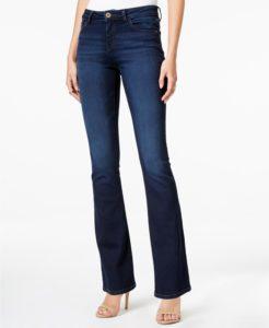 mid rise dark wash jeans