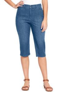 capri jeans that end just below the knee