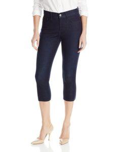 capri jeans with nude heels