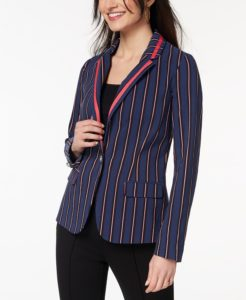 jacket with vertical stripes
