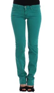 Straight Leg Jeans in Green