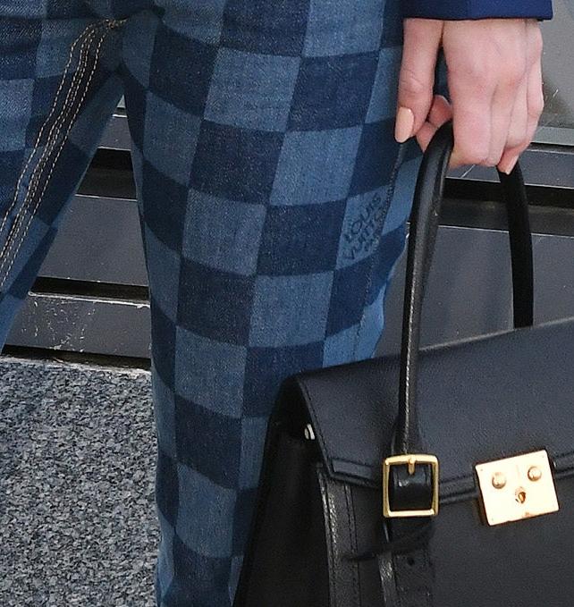 Louis Vuitton Damier Print Jeans Detail