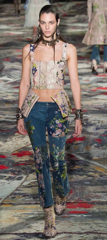 Alexander McQueen Low Rise Jeans, Spring 2017, Low rise jeans are coming back