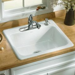 Kitchen Sink White Cabinet Hardware Ideas Types Of Sinks Read This Before You Buy Kohler K 5964 4 0 Mayfield Single Bowl Cast Iron