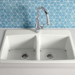 Kitchen Sink White Small Set Types Of Sinks Read This Before You Buy Kohler K 5846 1 0 Brookfield Cast Iron