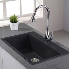 Black Sink Kitchen Art For The Granite Composite Sinks Buyer S Guide Design Ideas Pictures Kraus Kgd 412b