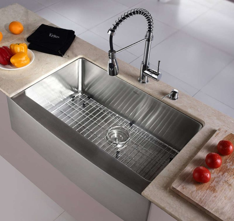sink for kitchen bosch package types of sinks read this before you buy kraus khf200 33 farmhouse single bowl stainless steel