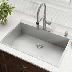 Single Sink Kitchen Melissa & Doug Bowl Buyer S Guide Design Ideas Pictures Wi Radius 33 Inch Stainless Steel