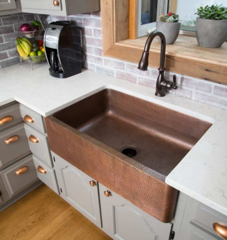 brown kitchen sink virtual designer online types of sinks read this before you buy sinkology adams farmhouse copper