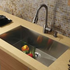 Brown Kitchen Sink How To Build Your Own Cabinets Types Of Sinks Read This Before You Buy Vigo 30 Inch Undermount Single Bowl Stainless Steel