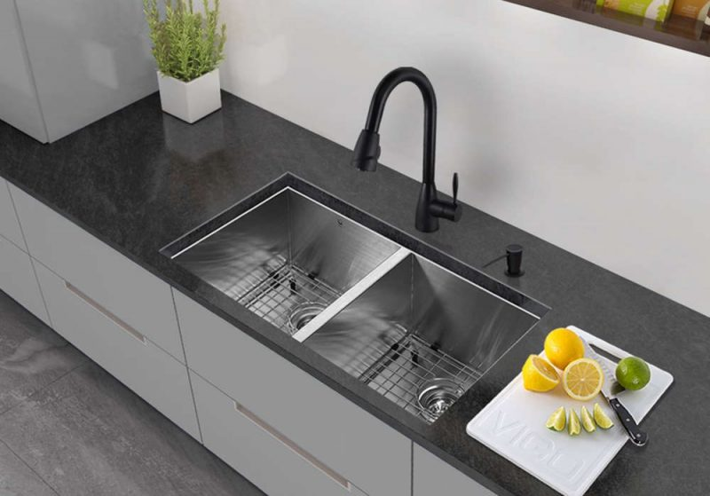 colored kitchen sinks tile designs types of read this before you buy vigo 32 inch undermount double basin stainless steel sink