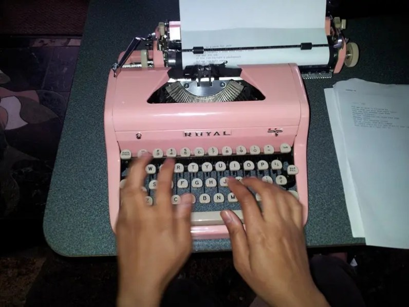 """Type Right In Pink (Part 1)"" by John for billimarie typewriter poetry"