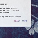"Etsy Typewriter Poetry Poem Available for Purchase: ""Couple #1″"