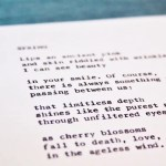 "Typewriter Poetry on Etsy – Poem Available for Purchase: ""Spring"""