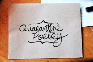 Quarantine Poetry - Typewriter Poetry - COVID-19 Care Package: Receive Weekly Poems via Snail Mail Delivery