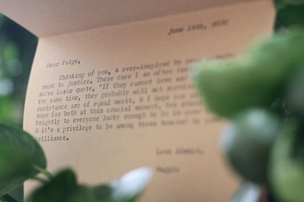 Typewriter Poetry greeting card by Billimarie - Fruit Tree - Inside of Card