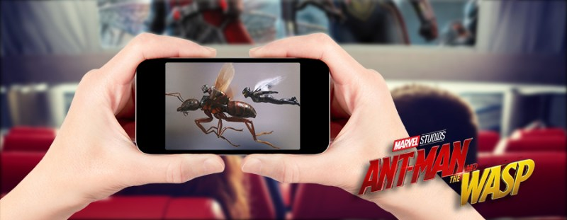 View Ant-Man and the Wasp on SMALLEST SCREEN POSSIBLE