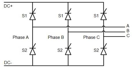 Three-phase thyristor rectifier