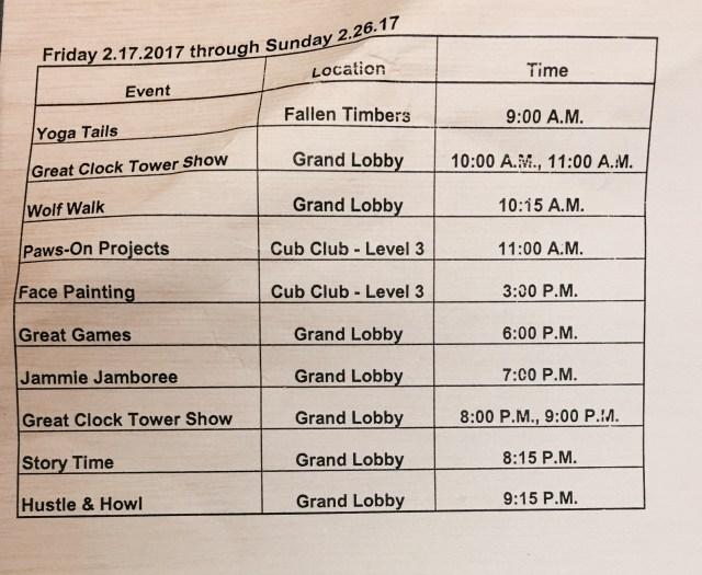 Great Wolf Lodge Sandusky Activity Guide