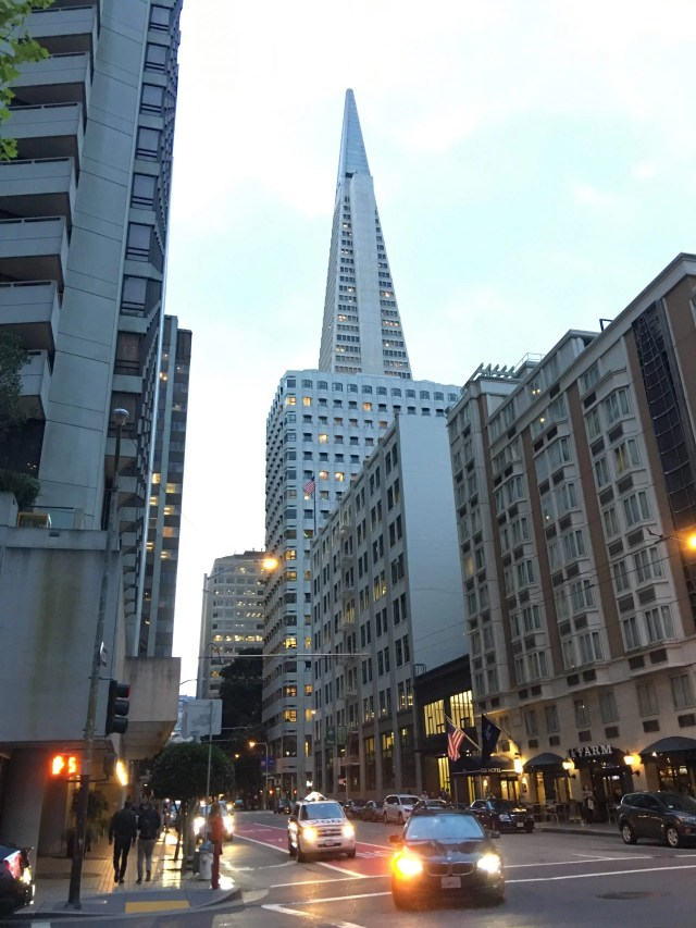 transamerica pyramid, walking tour of san francisco with a baby
