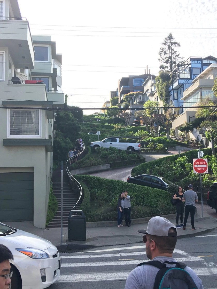 lombard street, walking tour of san francisco with a baby