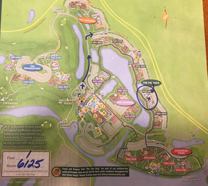Saratoga Springs Disney map