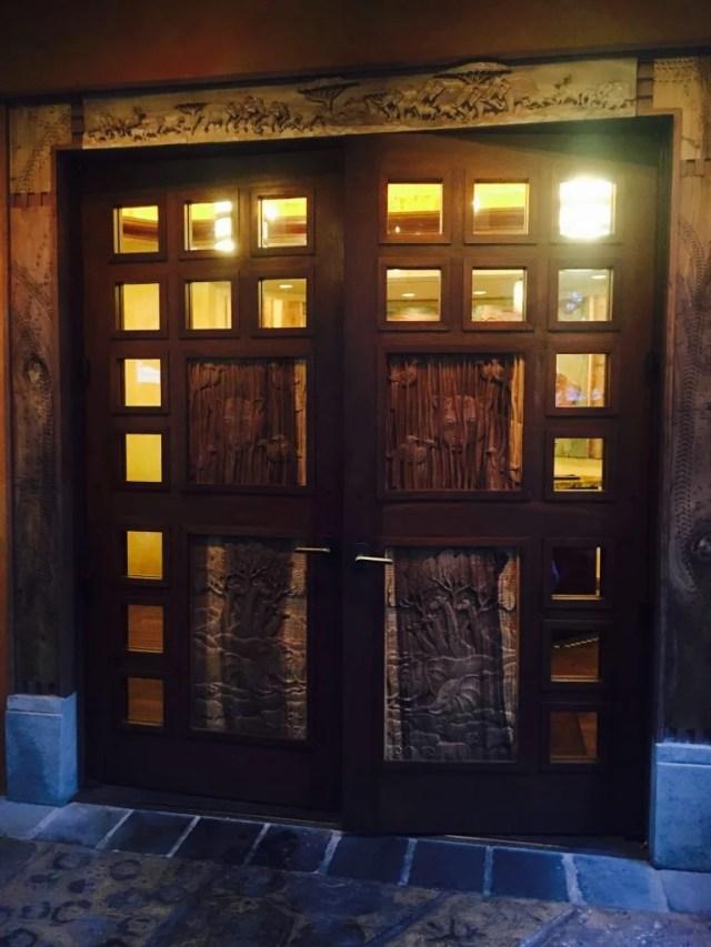 Animal Kingdom, Tiffins, Rustic Carved Doors, Walt Disney World