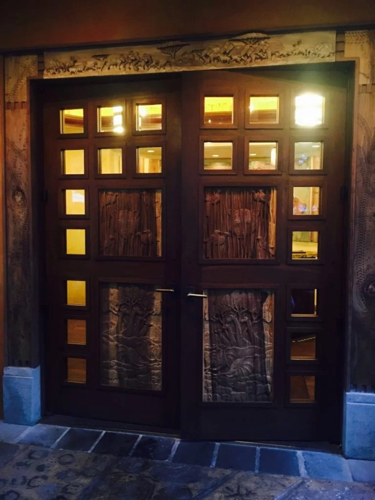 Animal Kingdom, Tiffins, Rustic Carved Doors, Walt Disney World