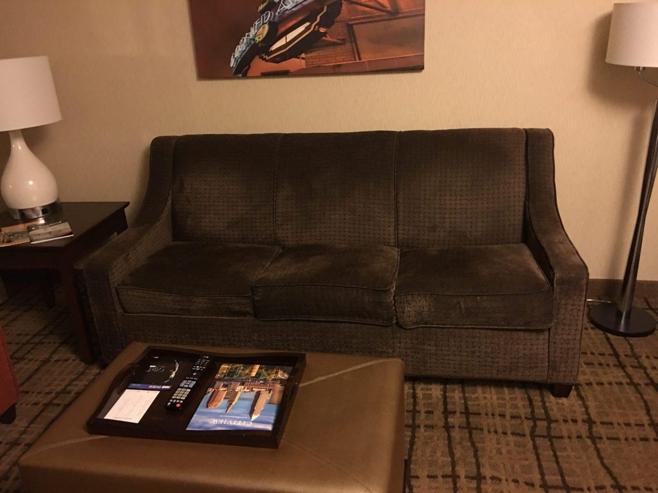 Embassy Suites Beachwood Ohio sofa fold-out