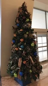 Christmas tree in the lobby at Disneys Contemporary Resort