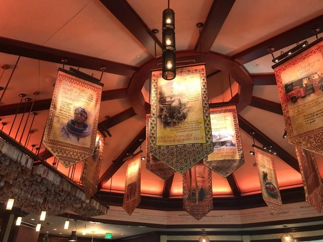 Banners above Nomad Lounge