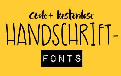 kostenlose Handschrift-Fonts mit deutschen Schriftzeichen