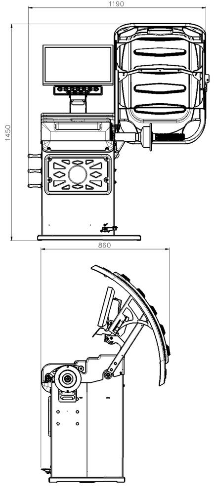 Atlas Platinum PWB90 Wheel Balancer| Wheel Balancer at