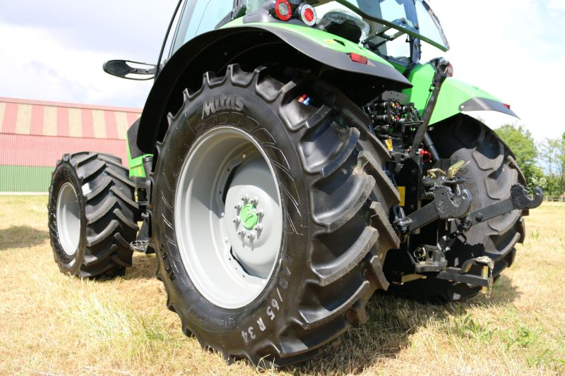 Mitas Premium tyres mounted on a Same Deutz-Fahr tractor