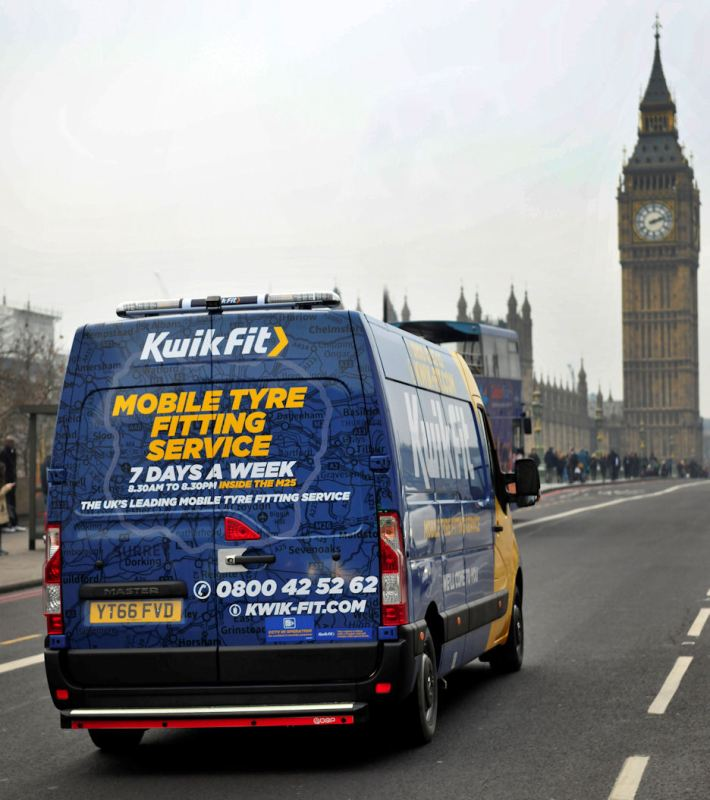 Kwik Fit says its mobile fleet was critical in regaining the British Gas contract