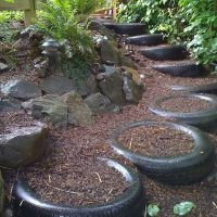 Tyre Uses | Retaining Walls | Artificial Grass