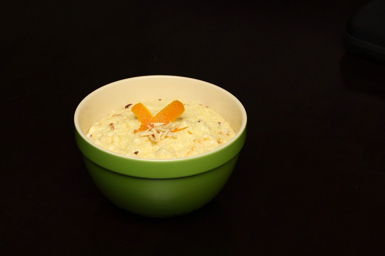 Rice Pudding with Orange and Toasted Almonds