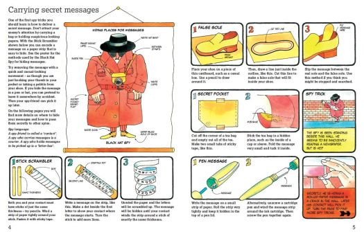 Carrying Secret Messages from The Official Usborne Spy's Handbook