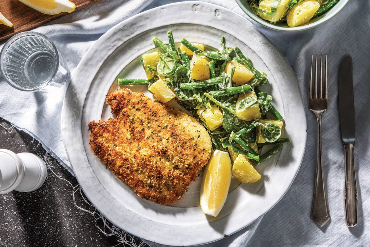Hello Fresh: Sage rosemary crumbed chicken