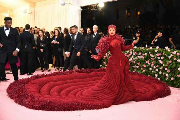 Cardi B arrives at the Met Gala
