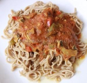 Alkaline Electric Spelt Pasta & Sauce
