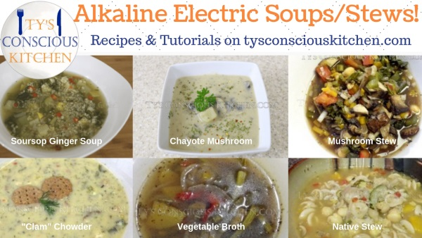 Tys Conscious Kitchen Alkaline Electric Soups & Stews Dr Sebi Recipes