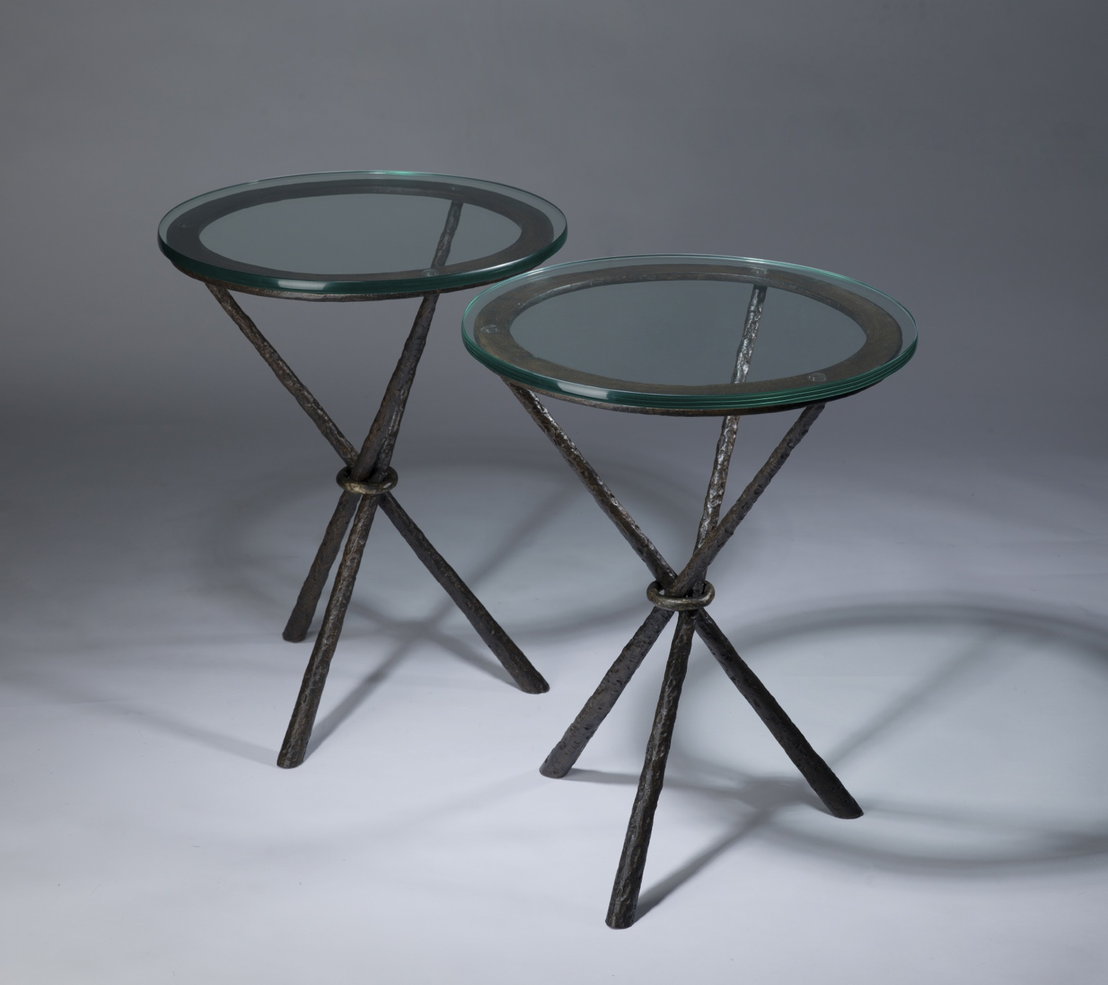 wrought iron tripod side table in