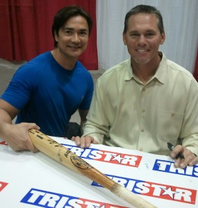 Joe with Houston Astros Craig Biggio
