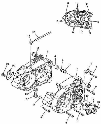 TY175 Crankcase Parts